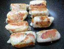長ねぎと根菜の豚肉巻き 調理⑦