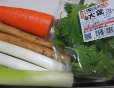 長ねぎと根菜の豚肉巻き 材料野菜