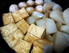 鶏団子と大根の炊いたん 調理③