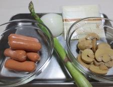 ペンネのカレーチーズ焼き 材料
