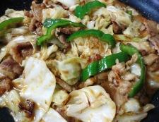 豚肉とキャベツの胡麻味噌炒め 調理④