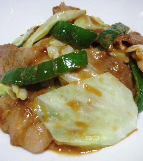 豚肉とキャベツの胡麻味噌炒め 拡大