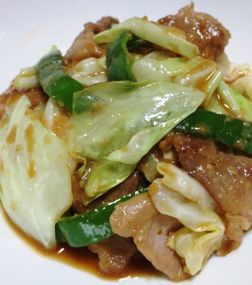 豚肉とキャベツの胡麻味噌炒め 大