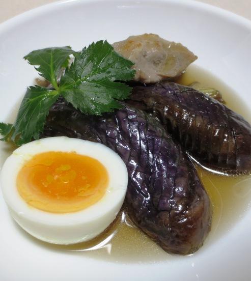 ナスと豚肉の炊いたん ゆで卵添え B