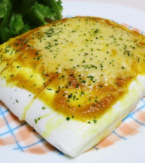 はんぺんのカレーマヨチーズ焼き 拡大