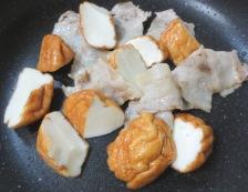 魚河岸あげと白菜のポン酢炒め 調理②