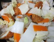 魚河岸あげと白菜のポン酢炒め 調理③