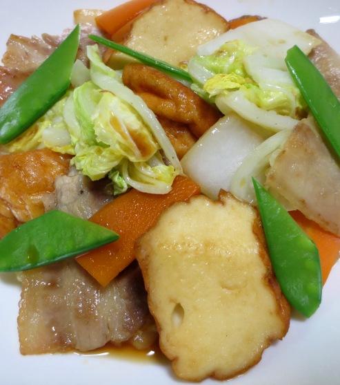 魚河岸あげと白菜のポン酢炒め B