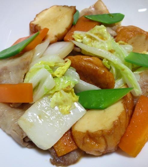 魚河岸あげと白菜のポン酢炒め 拡大
