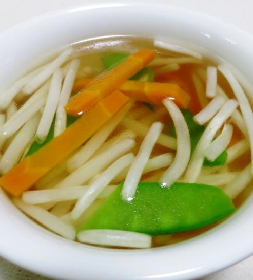 もやしときぬさやのスープ 大