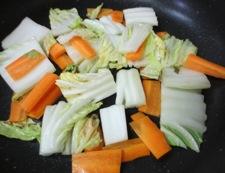 肉団子と白菜のうま煮 調理②
