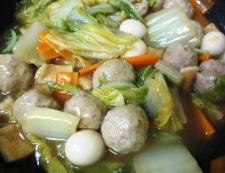 肉団子と白菜のうま煮 調理⑤