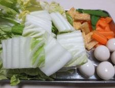 肉団子と白菜のうま煮 調理①