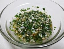 秋鮭の香味ソース 調理②