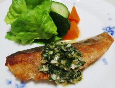 秋鮭の香味ソース 調理⑥
