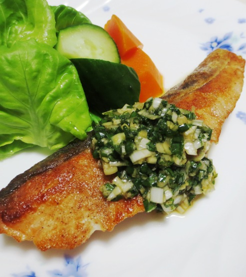 秋鮭の香味ソース 大