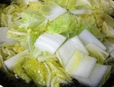 麻婆白菜 調理②