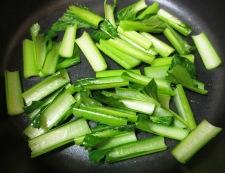 小松菜とツナの煮びたし 調理②