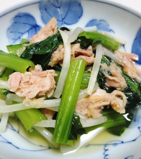 小松菜とツナの煮びたし 拡大