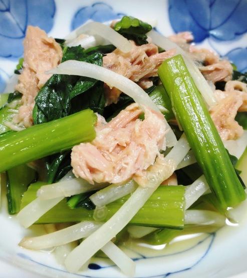 小松菜とツナの煮びたし 大