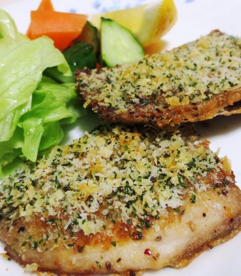 秋刀魚のチーズパン粉焼き 大