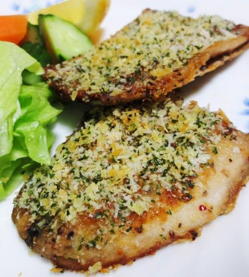 秋刀魚のチーズパン粉焼き B