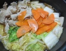 豚バラ白菜ホタテ風味 調理④