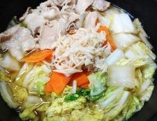 豚バラ白菜ホタテ風味 調理⑤