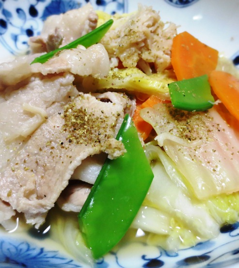 豚バラ白菜ホタテ風味 拡大