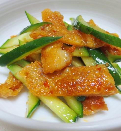 鶏皮サラダ中華風 大