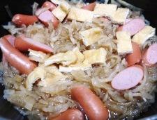 切干し大根とソーセージ 調理