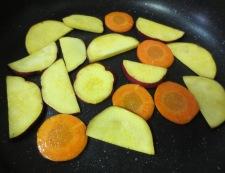 焼き根菜(レンコン、さつまいも、にんじん)のサラダ 調理②