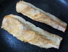 秋鮭の照り焼き 調理②