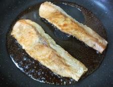 秋鮭の照り焼き 調理③