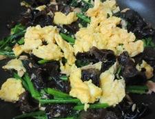 キクラゲとツナの卵炒め 調理⑥