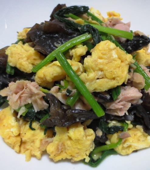 キクラゲとツナの卵炒め B