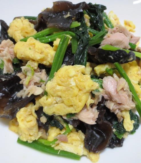 キクラゲとツナの卵炒め 拡大