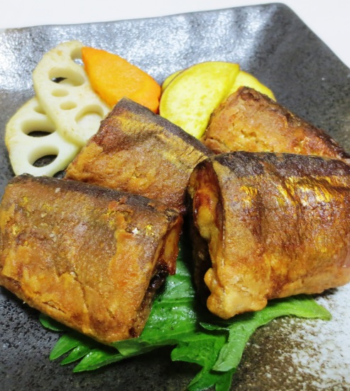 秋刀魚のからし醤油揚げ 大