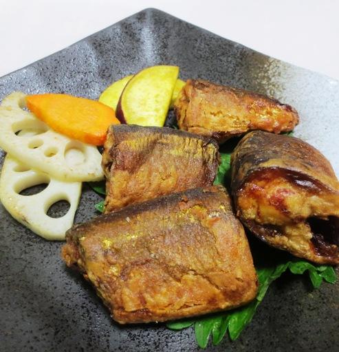 秋刀魚のからし醤油揚げ 拡大