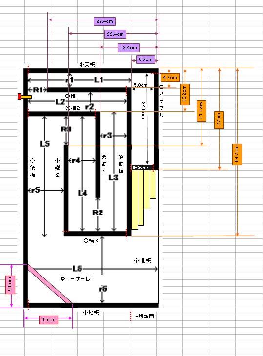 バックロードホーンの設計図