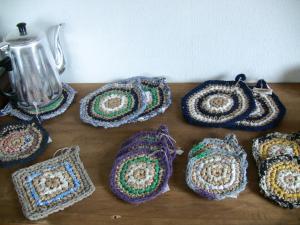 さき編みコースター