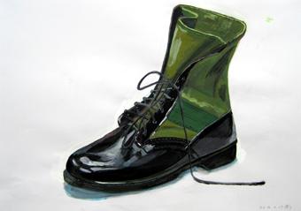 着_一般_靴