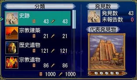 アルティーさん発見物1000到達(^-^)_