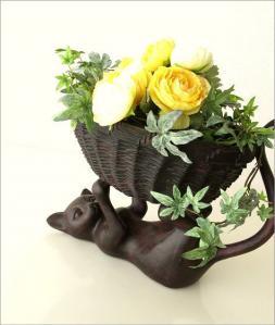 猫さんの花器1