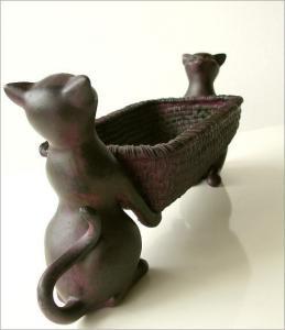 猫さんの花器2