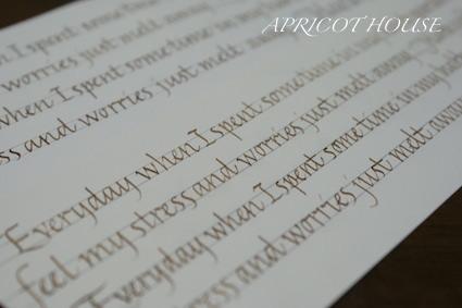 141010文字練習イタリック