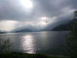 幻想的な河口湖