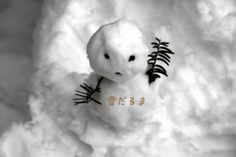 雪だるま。。。出来る雪