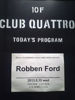 Robben Ford@Club Quattro