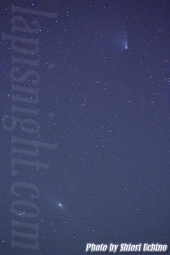 パンスターズ彗星,アンドロメダ銀河